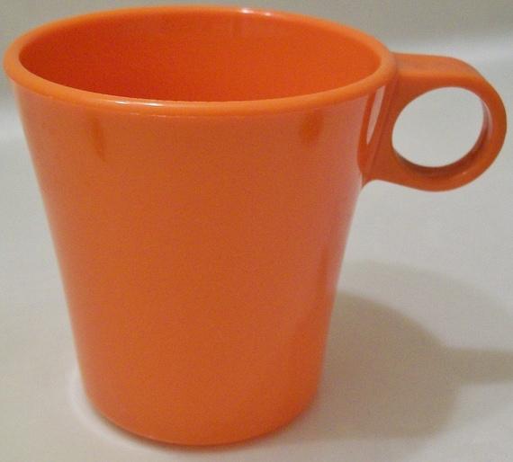 Retro Orange Cup - Vintage Deka Plastics