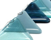 Glass Bunting - blue