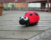 Ladybug - needle felted friend