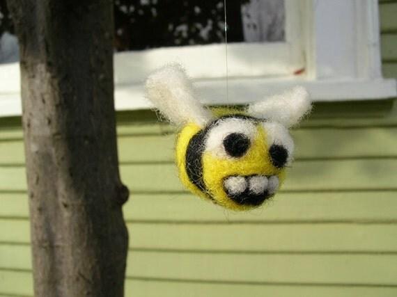 Bee - needle felted friend