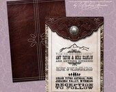 Old West Wedding Invitation Suite DP WSTRN-01