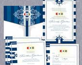 Nautical Flags Wedding Stationery Suite DP NTCL-01