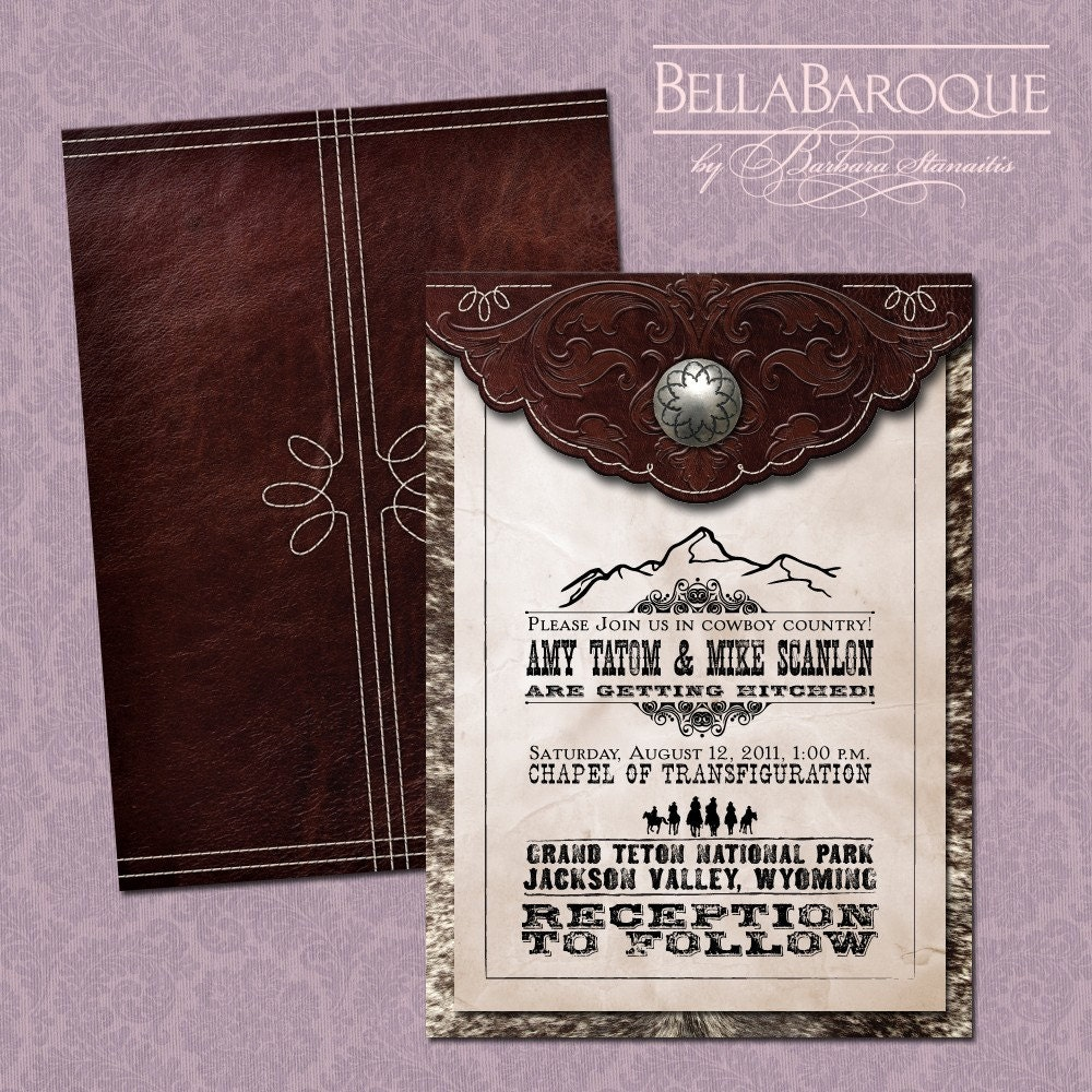 Old Wedding Invitations: Old West Wedding Invitation Suite DP WSTRN-01