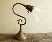 Art Nouveau Lamp with Key Switch