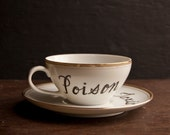 RESERVED Poison and Toxic Teacup and Saucer