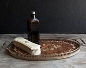 Victorian Tray- Gold Italian Wooden Vanity