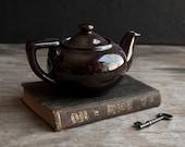 Vintage Brown Ceramic Teapot