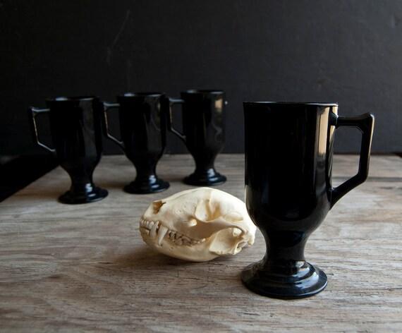 Vintage Black Victorian Goblets