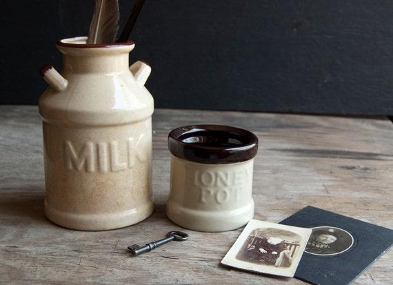 Milk Jug and Honey Pot - Victorian Jar Collection