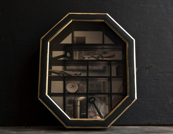 Curio Display Box- Victorian Mirrored -