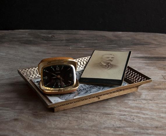 Vanity Tray -  Victorian Brass Frame