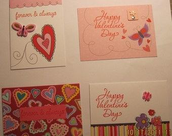 Valetine's Day Cards (Set of 4)