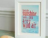 Live in the Sunshine - A3 Graphic Fine Art Print