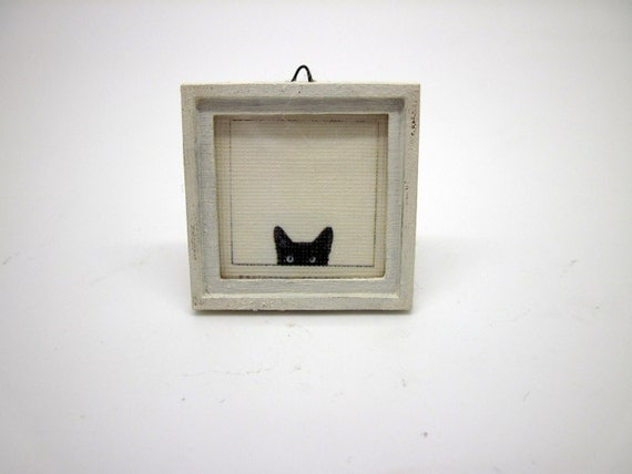 Miniature shabby chic wooden frame