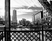 10x15 Photograph - Black and White Downtown Denver