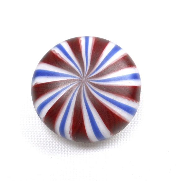 American Trade Bead - Texas - Lentil bead. Hollow blown boro glass lampwork. Relisted, original price 45.00