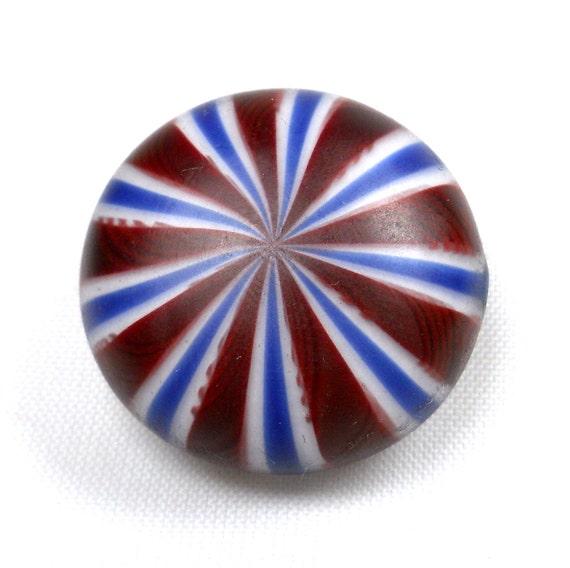 American Trade Bead - Texas - Lentil bead. Hollow blown boro glass lampwork. Relisted, original price 45.00