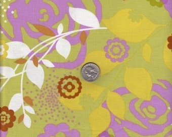 CLEARANCE - Erin McMorris, Weekends, Saturday in Grass, 1 yard, Cotton Fabric, Free Spirit