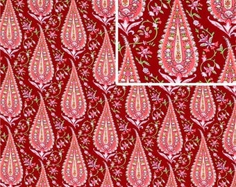 Amy Butler, Love, Cypress Paisley in Wine, Cotton Fabric, 1 Yard, More Available