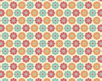 Riley Blake, Just Dreamy, Cream Small Floral Print, Cotton Fabric, Cotton Fabric, 1 Yard, More Available