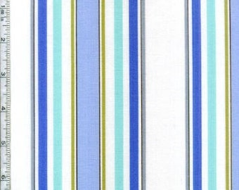 Dena Fishbein Designs for Free Spirit - Leanika - Blue Stripe - 1 Yard - Cotton Fabric