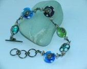 Lampwork bead bracelet