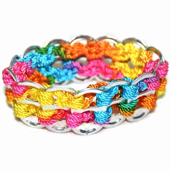 Child Bracelet - Rainbow, Pop Tabs