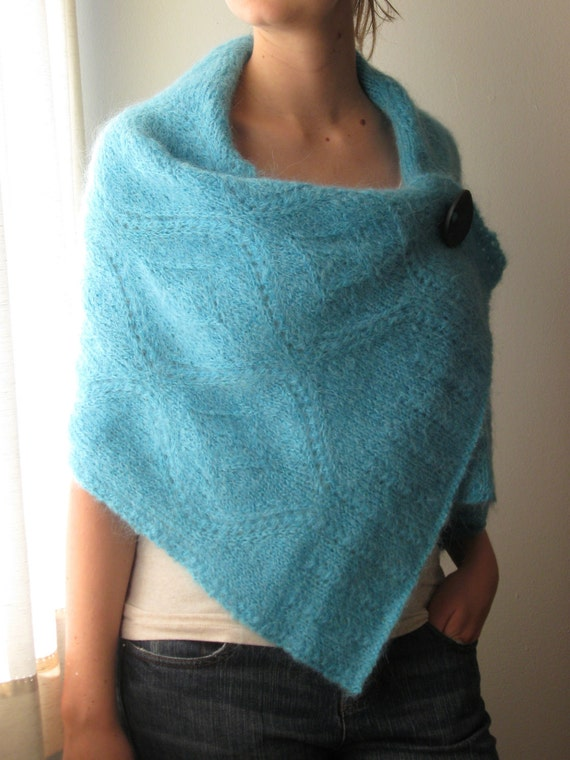Hand Knit Shawl / Wrap / Poncho - MADE TO ORDER