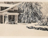"Vintage ""First Snow Storm"" Photo"