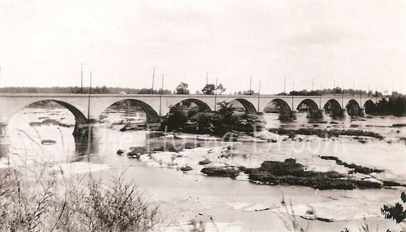 Vintage Bridge Photos, Set of 4