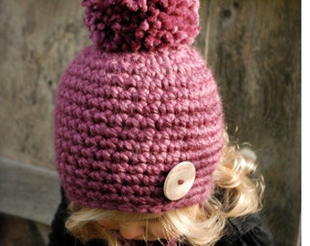Crochet PATTERN-The Rylie Hat (Toddler, Child, and Adult sizes)
