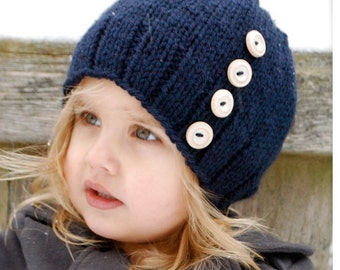 Knitting PATTERN-The Hudson Hat (Toddler, Child, Adult sizes)