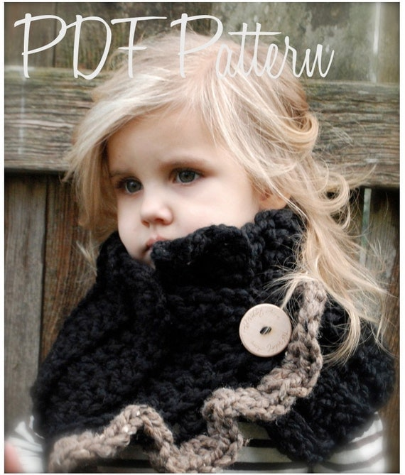 Crochet PATTERN-The Layla Cowl (Child, Adult sizes)