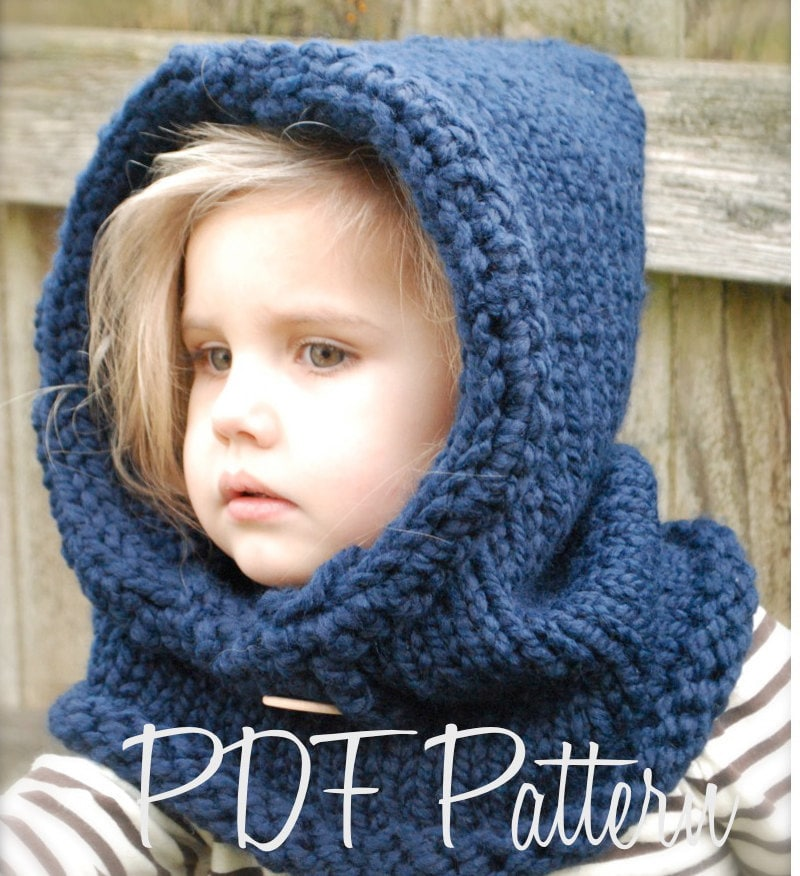Knitted Cowl Pattern For Toddler : Knitting PATTERN-The Canyon Cowl ToddlerChild Adult sizes