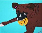 Custom 11x14 Dog Pawps Pet Painting