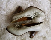 vintage Madras Italian leather gray shoes (size 6.5 - 7)