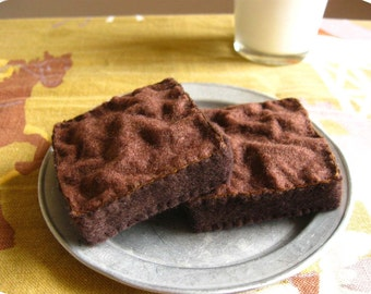Felt Food Brownies