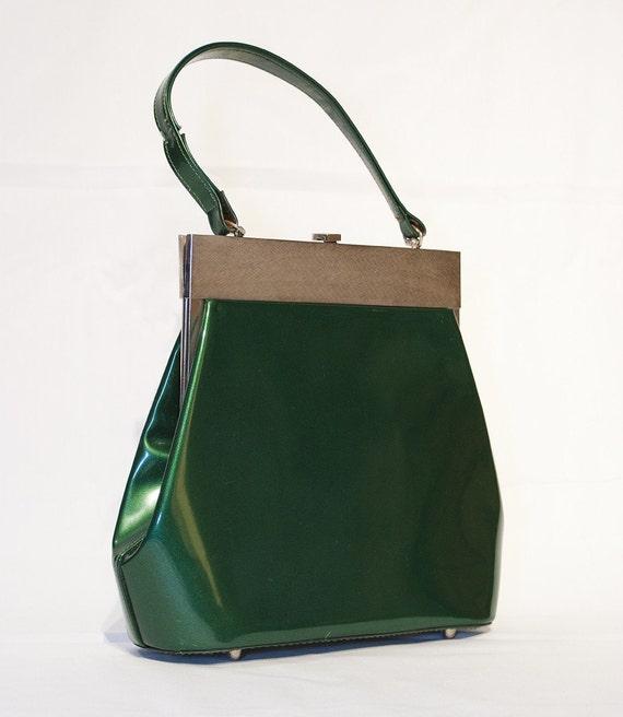 Vintage Emerald Green Handbag
