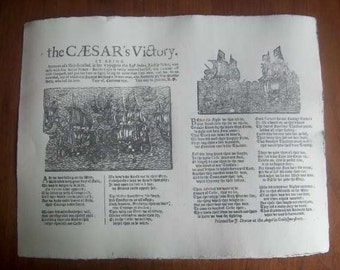 Replica 1686 Broadside Ballad - The CAESAR's Victory