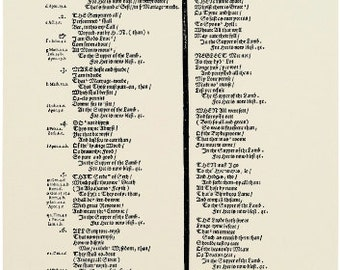 Replica 1574 Broadside Ballad - A new balade or songe of the Lambes feast