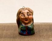 Ann, Highlander in Campbell of Cawdor tartan - Hand Sculpted Ornaments -reserved for Tara