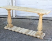 Console Table Handcrafted Unfinished With Balustrade Legs