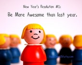 Print No. Twenty-Two, 5 x 7 PERSONALIZED fine art print by Happy Town USA on Etsy.  New Year's Resolution.