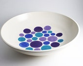 Polka Dot Bowl - Purple, Lavender, Blue and Turquoise Spotted Bowl