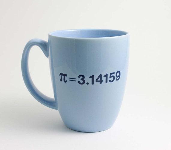 Pi Math Mug - 3.14 Blue and Navy Coffee Mug with Pi