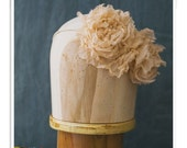Home Style 4 Southern Vintage Inspired Chiffon Flower Halo