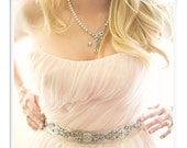 Bridal Sash and Head Wrap with Beaded Trim- SALE