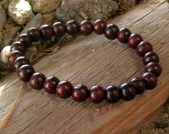 The basic Rosewood mala bracelet