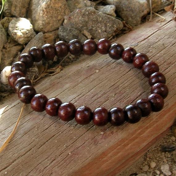 The basic Rosewood mala bracelet