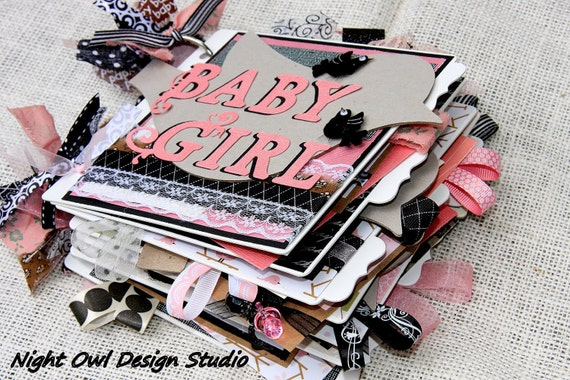 Clearance Baby Girl Scarpbook Chipboard Album - A Perfect Gift
